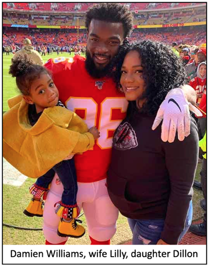 Chiefs Damien Williams Family Comes First